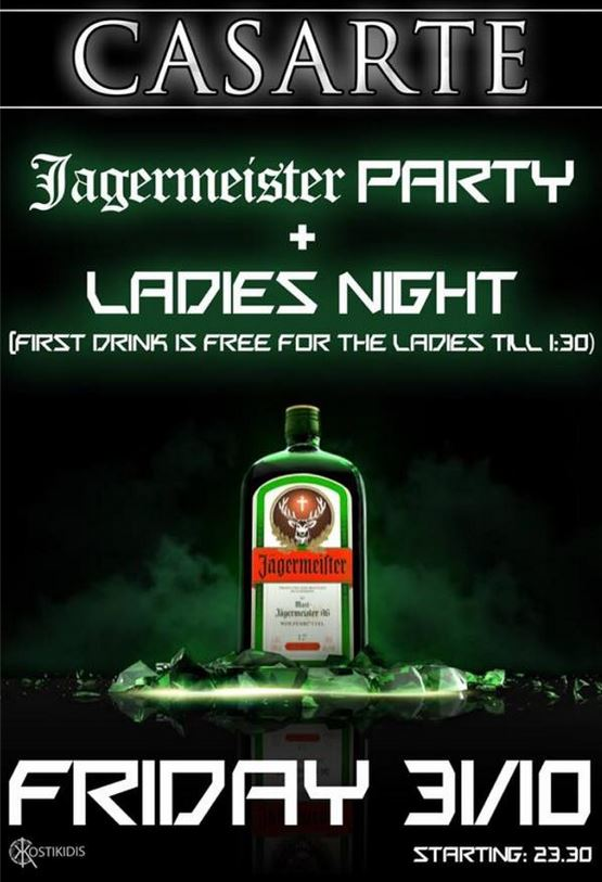 Ladys night στο club Casarte στην Πτολεμαΐδα την 31/10 – Ώρα έναρξης 23:30