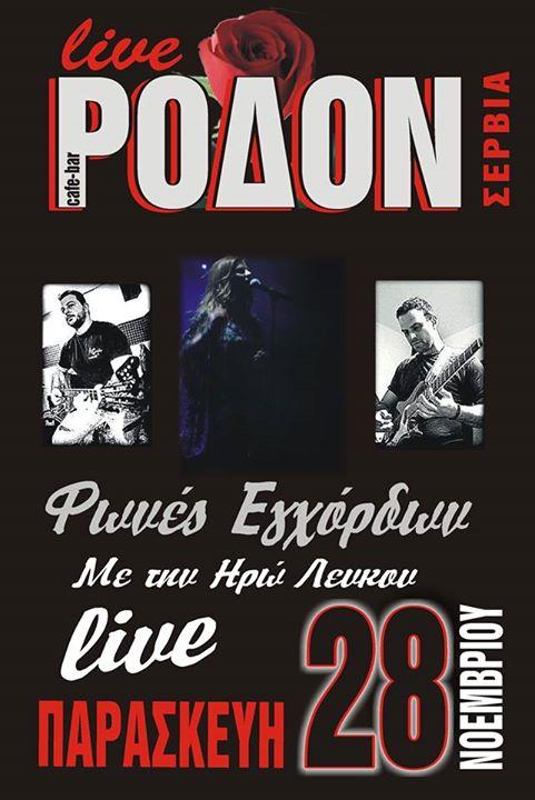 Ρόδον Live Σέρβια: Φωνές Εγχόρδων την Παρασκευή 28 Νοεμβρίου