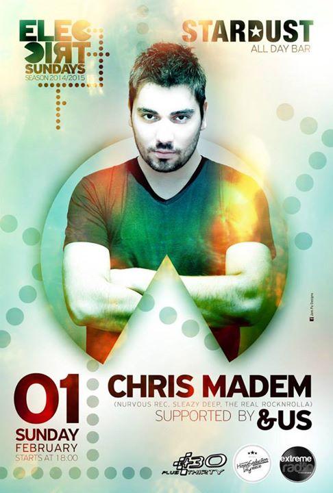 Chris Madem @ STARDUST alla day bar στην Καστοριά, την Κυριακή 1 Φεβρουαρίου