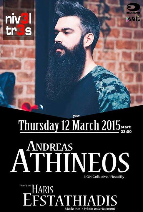 Andreas Athineos @ Nivel tres Kozani,την Πέμπτη 12 Μαρτίου