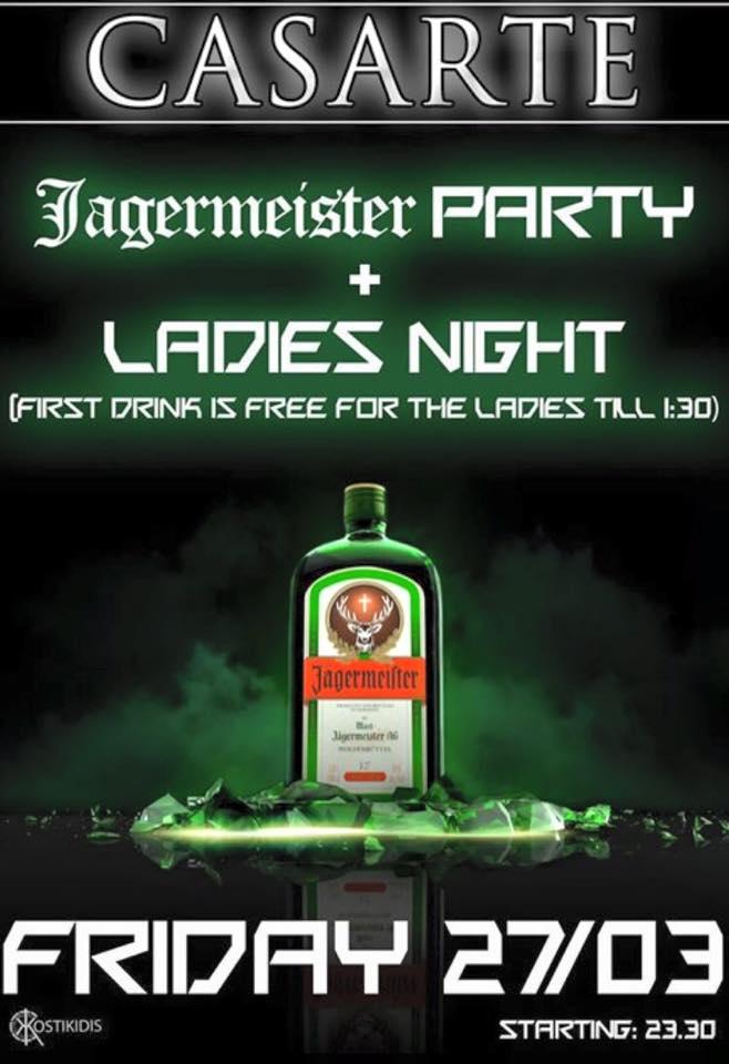 Casarte club στην Πτολεμαΐδα: JAGERMEISTER  party, την Παρασκευή 27 Μαρτίου