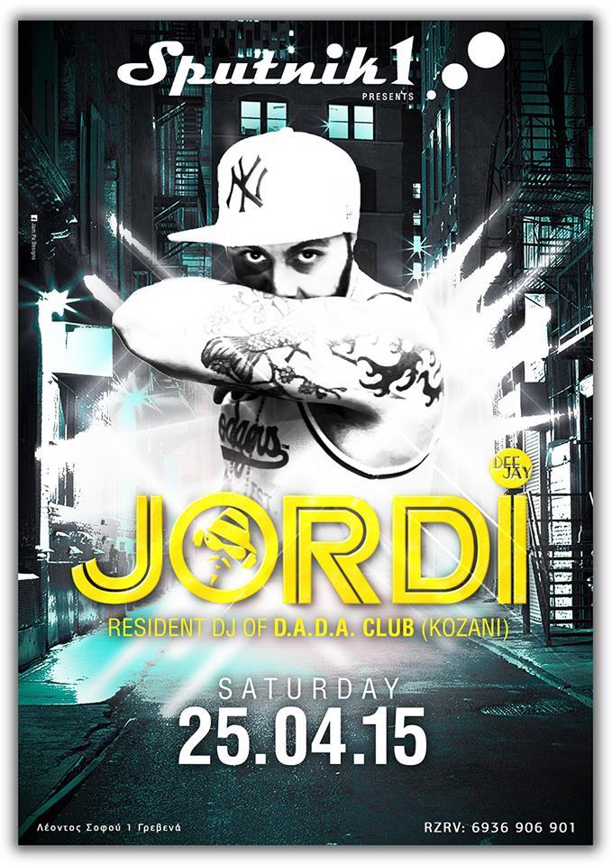 O Dee Jay Jordi στα deck του Sputnik στα Γρεβενά, το Σάββατο 25 Απριλίου